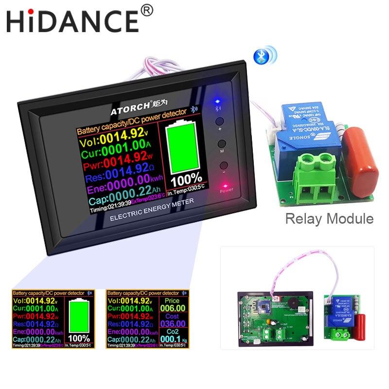 DT24 digital display DC Power APP Voltmeter Ammeter Battery Capacity Tester Fuel Gauge voltage detector Meter with delay module